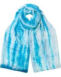 East - Silk Tie Dye Scarf - Lyst