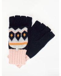 Boden Fair Isle Wool Blend Gloves - Blue