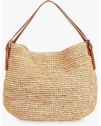 Whistles Aria Straw Shoulder Bag - Natural