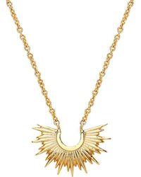 Estella Bartlett - Half Sunburst Pendant Necklace - Lyst