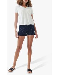 Crew Lavender Slub Cotton T-shirt - White