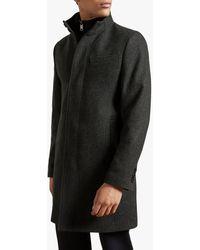 Ted Baker Rockies Tailored Coat - Grey
