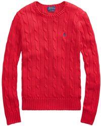Ralph Lauren - Polo Julianna Cable Knit Cotton Jumper - Lyst