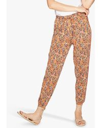 Thought Antonia Floral Tie Waist Joggers - Multicolour