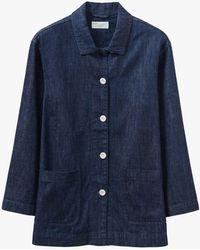 Toast Hemp Cotton Jacket - Blue