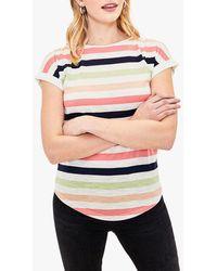 Oasis Rainbow Stripe T-shirt - White