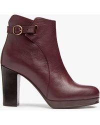 Modern Rarity - Olena Block Heeled Ankle Boots - Lyst