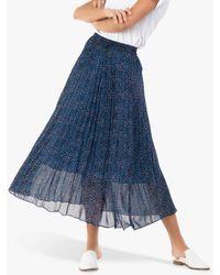 Jolie Moi Animal Print Chiffon Skirt - Blue