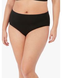 Elomi Smooth High Waist Full Knickers - Black