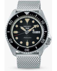 Seiko Srpd73k1 5 Sports Automatic Day Date Bracelet Strap Watch - Metallic