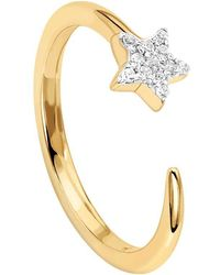 Missoma - 18ct Gold Vermeil Cosmic Nova Pave Star Ring - Lyst