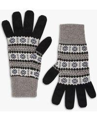 Brora Fair Isle Cashmere Gloves - Black