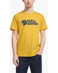 Fjallraven Logo T-shirt - Yellow