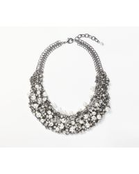 John Lewis - Crystal And Faux Pearl Statement Necklace - Lyst