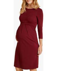 18d19c7b2a0f1 Isabella Oliver - Ivybridge Pleat Detail Midi Maternity Dress - Lyst