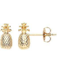 Estella Bartlett - Pineapple Stud Earrings - Lyst