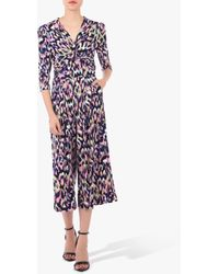 Jolie Moi Printed Twist Front Jumpsuit - Multicolour