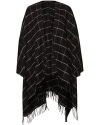 French Connection - Windowpane Cape - Lyst