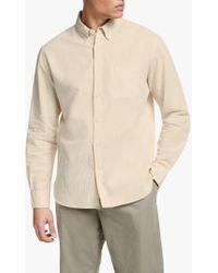 John Lewis - Carson Overdyed Cotton Linen Slub Shirt - Lyst