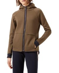 Jigsaw Athleisure Double Faced Hooded Sweatshirt - Multicolour