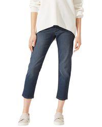 Jigsaw Compton Straight Leg Cropped Jeans - Blue