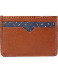 John Lewis - Paisley Leather Card Holder - Lyst