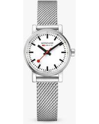 Mondaine Mse.26110.sm Unisex Evo 2 Mesh Bracelet Strap Watch - Metallic