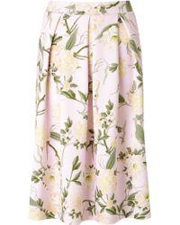 Miss Selfridge Floral Midi Skirt - Pink