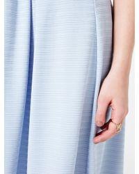 Miss Selfridge Textured Box Pleat Midi Skirt - Blue