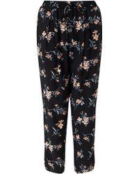 Miss Selfridge Floral Pyjama Jogger - Black