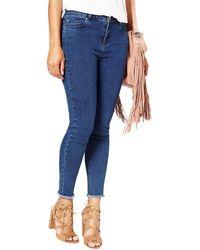 Miss Selfridge Lizzie Ankle Grazer Trousers - Blue