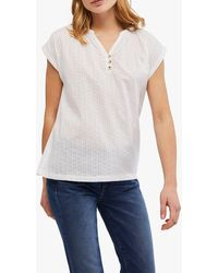 White Stuff Beach Spot Cotton Jersey T-shirt - White