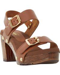 Dune Mosanne Chunky Platform Sandals - Brown