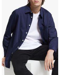 J.Lindeberg David Garment Dye Cotton Twill Shirt - Blue
