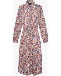 Gerard Darel Tullia Floral Silk Shirt Dress - Multicolour