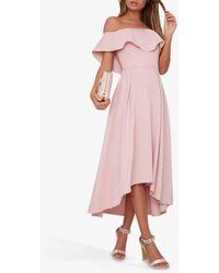 Chi Chi London Wanda Ruffle Dress - Pink