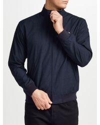 Fred Perry - Brentham Marl Funnel Neck Jacket - Lyst