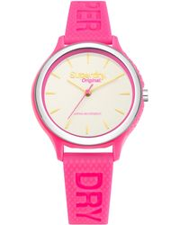 Superdry - Syl151p Women's Sapporo Silicone Strap Watch - Lyst