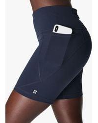 """Sweaty Betty Power 6"""" Biker Shorts - Blue"""