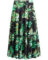 0b56573727 Ralph Lauren - Lauren Oretha Fern Print Skirt - Lyst