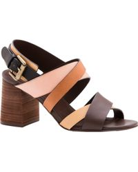 See By Chloé Sunset Multi Strap Sandals - Brown