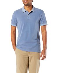 Dockers | Garment Dyed Fitted Short Sleeve Polo Shirt | Lyst