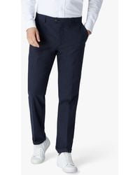 Jaeger Interest Pleated Trousers - Blue