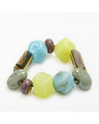 One Button - Funky Fun Glass Bead Bracelet - Lyst