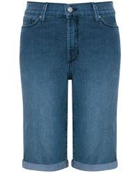 NYDJ - Briella Roll Up Cuff Denim Shorts - Lyst