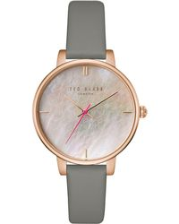 Ted Baker - Tec0025002 Women's Kate Leather Strap Watch - Lyst