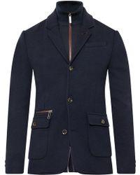 Ted Baker Dom Funnel Neck Jersey Jacket - Blue