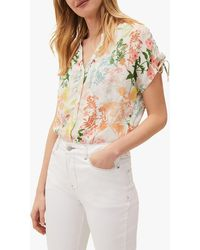 Phase Eight Remee Floral Print Top - Pink