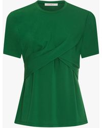 Finery London Eyre Gathered Bodice Top - Green