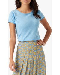 Brora Cotton Knit T-shirt - Blue